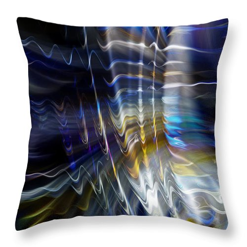 Abstract Throw Pillow featuring the photograph Wormhole Flaring by Richard Thomas