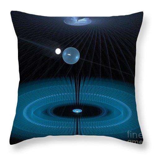 Peter R Nicholls Abstract Fine Artist Canada Throw Pillow featuring the digital art Wormhole by Peter R Nicholls