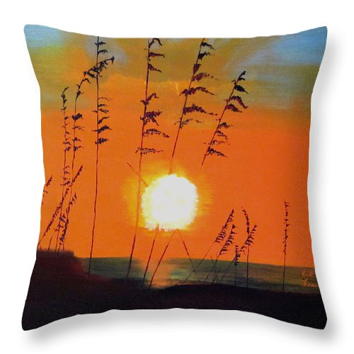 Throw Pillow featuring the painting Worth Waiting For by Keith Thue