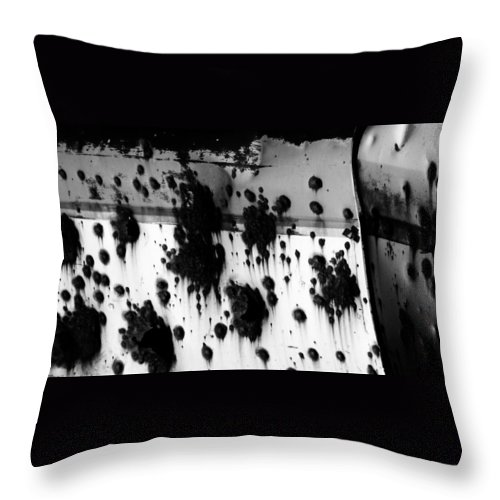 Black Throw Pillow featuring the photograph Wounds That Wont Heal by Jessica Shelton