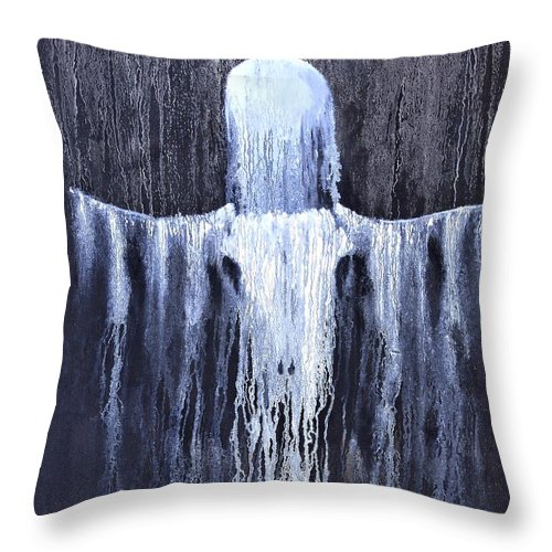 Inspirational Throw Pillow featuring the painting Wovoka's Dream by Patrick Trotter