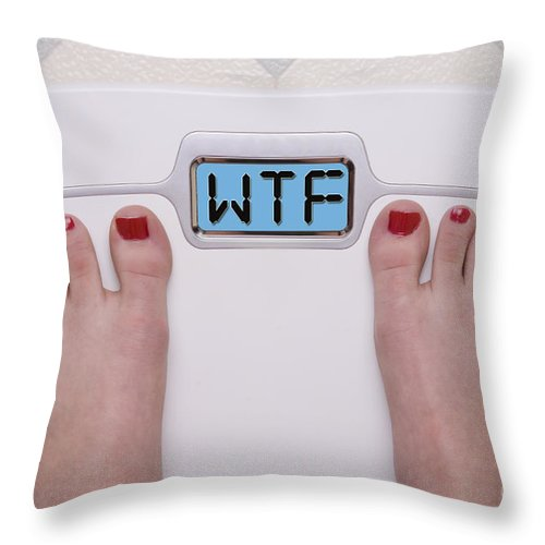 Wtf Throw Pillow featuring the photograph Wtf Scale by SAJE Photography