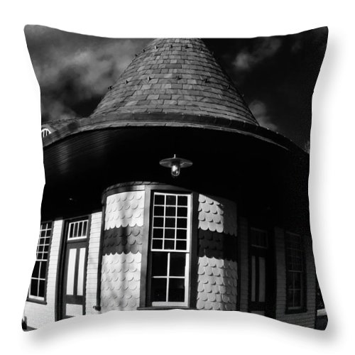 Wycombe Train Station Throw Pillow featuring the photograph Wycombe Train Station by Greg Kear