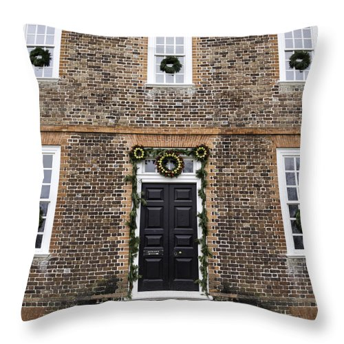 2013 Throw Pillow featuring the photograph Wythe House Squared by Teresa Mucha