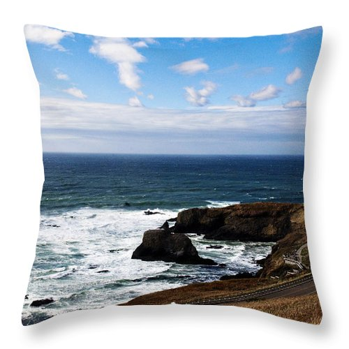Yaquina Throw Pillow featuring the photograph Yaquina by Becky Thompson