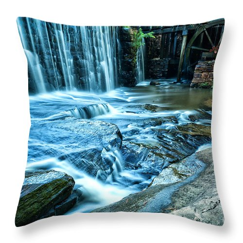 Landscape Throw Pillow featuring the photograph Yates Mill by Jonathan Virgie