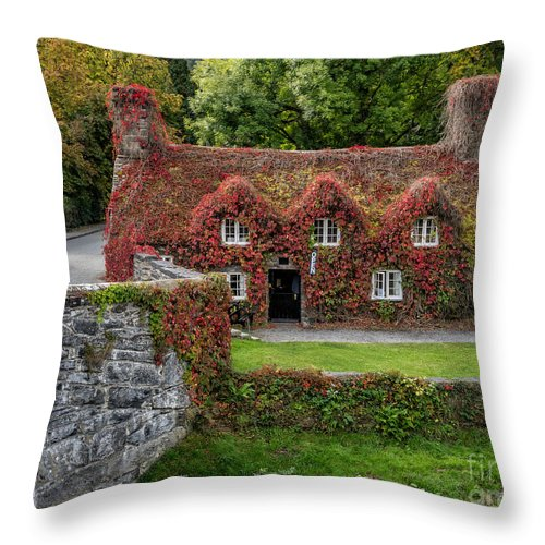 15th Century Throw Pillow featuring the photograph Ye Olde Courthouse by Adrian Evans