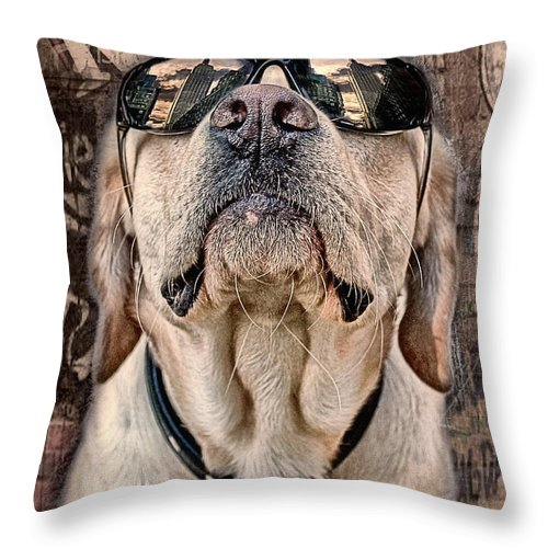 Animals Throw Pillow featuring the photograph Yeah Man . . . This Is Really High by Joachim G Pinkawa