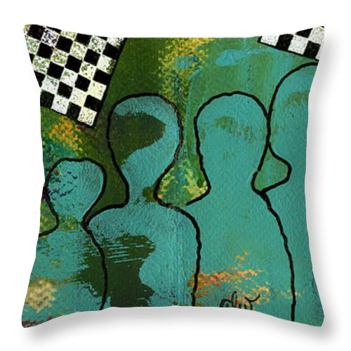 Women Throw Pillow featuring the mixed media Yeah...but We're The Jazz Singers by Angela L Walker
