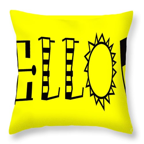 Throw Pillows Primary Colors : Yellow - Primary Color - Letter Art Throw Pillow for Sale by Barbara Griffin