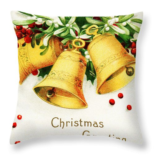 Yellow Throw Pillow featuring the photograph Yellow Bells by Munir Alawi