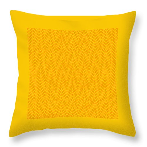 Yellow Throw Pillow featuring the digital art Yellow Chevron Waves by Cassie Peters