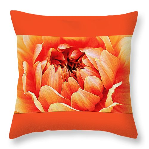 Art Throw Pillow featuring the photograph Yellow Dahlia by Joan Han
