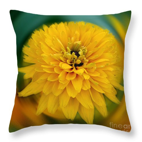 Flower Throw Pillow featuring the photograph Yellow Delight by Smilin Eyes Treasures