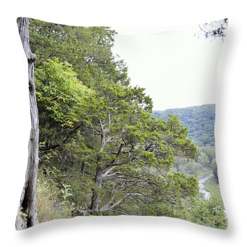 River Throw Pillow featuring the photograph Yellow River by Bonfire Photography