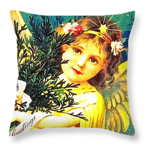 Wings Throw Pillow featuring the photograph Yellow Wings by Munir Alawi