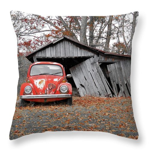 Vw Throw Pillow featuring the photograph Yesterday by Alan Crabtree