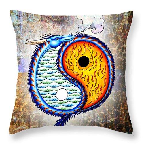 Digital Art Throw Pillow featuring the photograph Yin And Yang Textured by Robert Ball