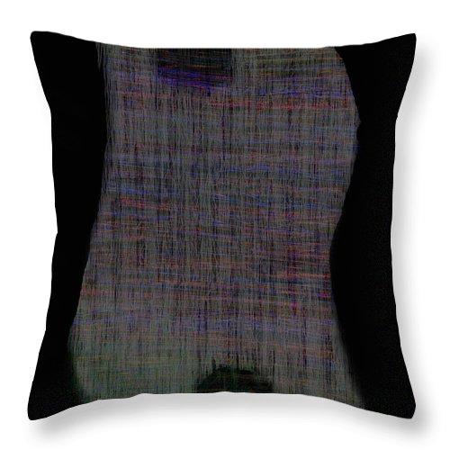 yin Yang yin Yang Art black Art yin Yang Design black Abstract Art black Abstract Throw Pillow featuring the digital art Yin Yang Zang by Andy Mercer