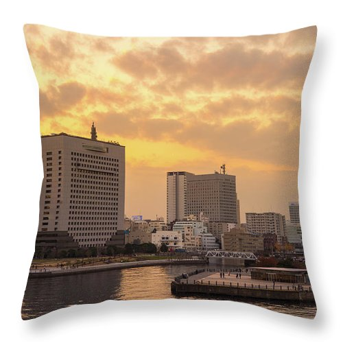 Tranquility Throw Pillow featuring the photograph Yokohama by I Like Camera And Life