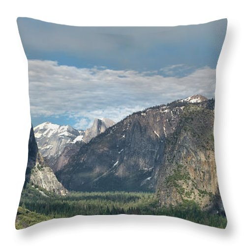 Yosemite Throw Pillow featuring the photograph Yosemite Valley Afternoon by Sandra Bronstein