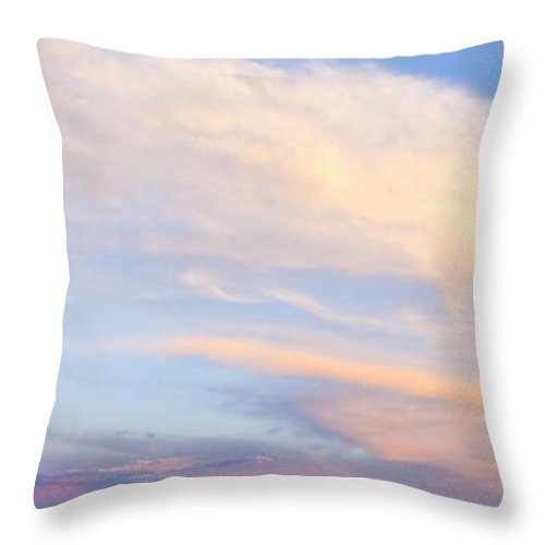 Rural Throw Pillow featuring the photograph You Can Almost Hear Them Singing by Theresa Tahara