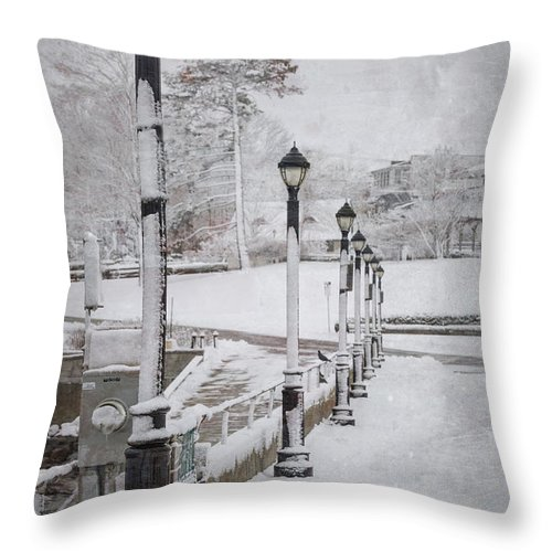 Bar Harbor Throw Pillow featuring the photograph You'll Never Walk Alone by Evelina Kremsdorf