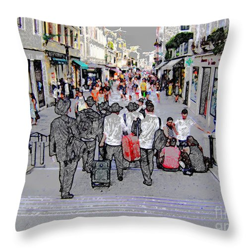Jews Throw Pillow featuring the photograph Young Jews In Venice by Constantin Raducan
