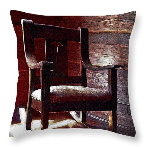 Rocker Throw Pillow featuring the photograph Your Great Grandmother's Rocker by David Kehrli