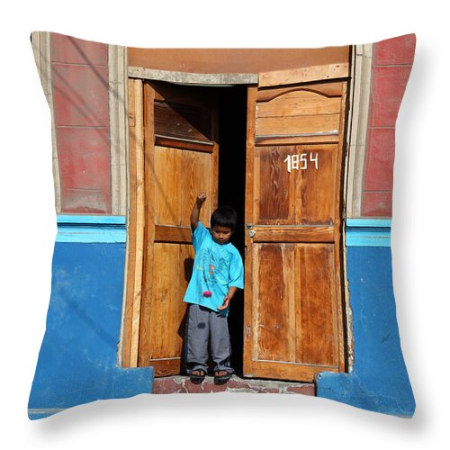 Childhood Throw Pillow featuring the photograph Yoyo Fun by James Brunker