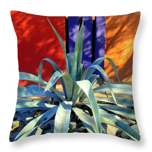 Yucca Throw Pillow featuring the painting Yucca Color by Randall Weidner