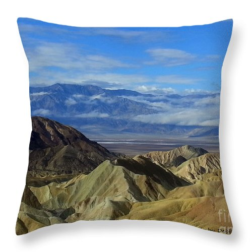 Landscape Throw Pillow featuring the photograph Zabriskie Point by Debbie D Anthony