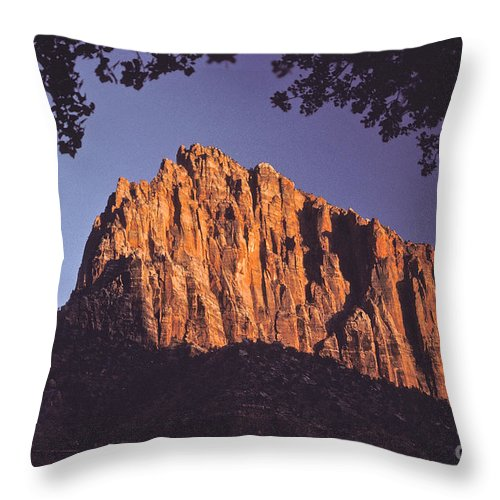 Zion Throw Pillow featuring the photograph Zion National Park by Howard Stapleton