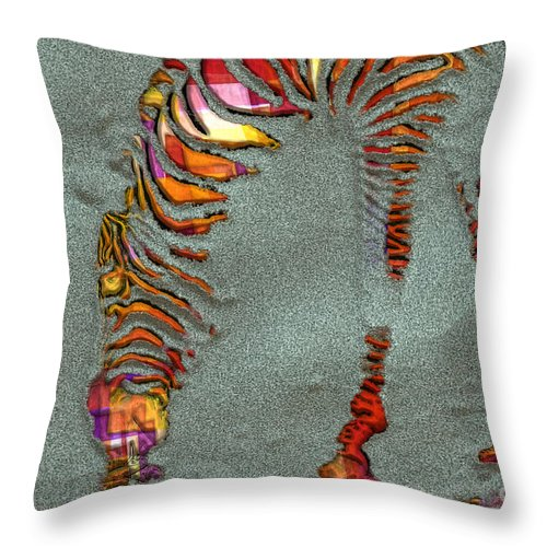 Zebra Throw Pillow featuring the photograph Zebra Art - 64spc by Variance Collections