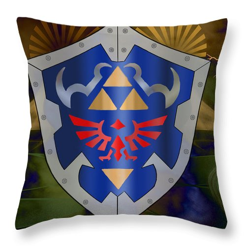 Hylian Zelda Shield Throw Pillow for Sale by Becca Buecher