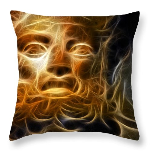 Zeus Throw Pillow featuring the digital art Zeus by Zapista OU