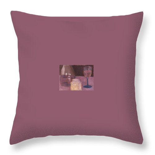Wine Throw Pillow featuring the painting Zin by Sheila Mashaw