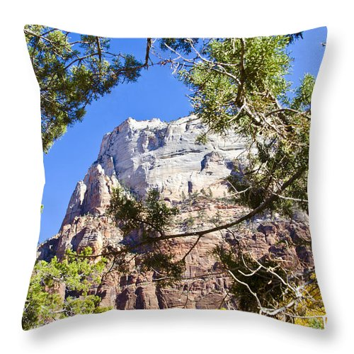 Zion National Park Utah Throw Pillow featuring the photograph Zion National Park by Jon Berghoff