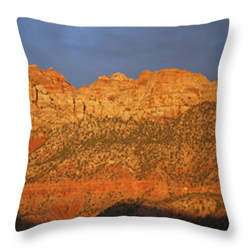 Throw Pillow featuring the photograph Zion Sunset Panorama by Susan Rovira