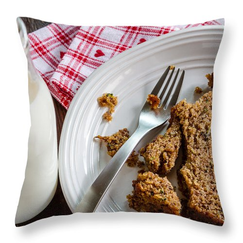 Agave Nectar Throw Pillow featuring the photograph Zucchini Yummmm by Teri Virbickis