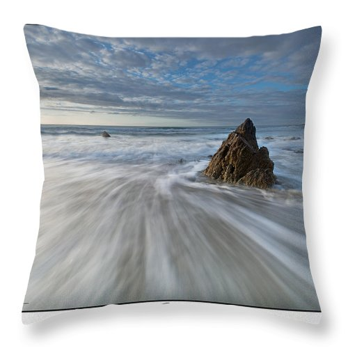 Seascape Throw Pillow featuring the photograph Blues by Beverly Cash