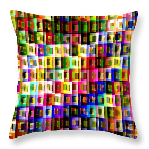 Ebsq Throw Pillow featuring the digital art Double Jeopardy by Dee Flouton