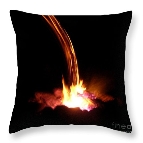 Fire Throw Pillow featuring the photograph Fire Escape by Anthony Wilkening