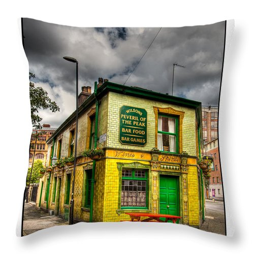 Victorian Throw Pillow featuring the photograph Relics - Old Pub by Beverly Cash