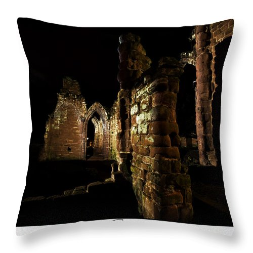 Ruins Throw Pillow featuring the photograph Ruins by Beverly Cash