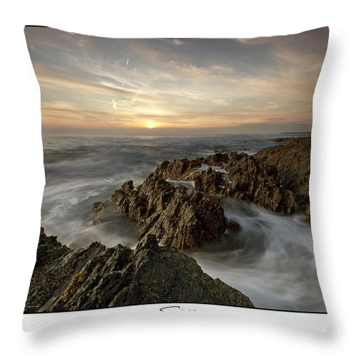 Jagged Throw Pillow featuring the photograph Subtle Sunset by Beverly Cash