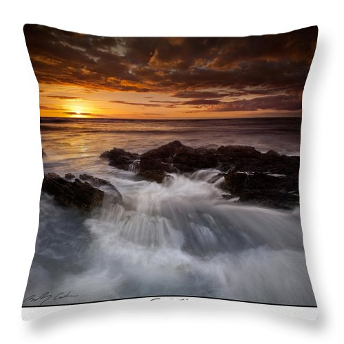 Sunset Throw Pillow featuring the photograph Sunset Tides by Beverly Cash