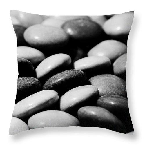 Smarties Throw Pillow featuring the digital art Sweet Abstract by David Pyatt