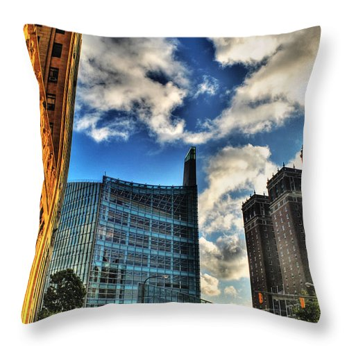 Throw Pillow featuring the photograph 005 Wakening Architectural Dynamics by Michael Frank Jr