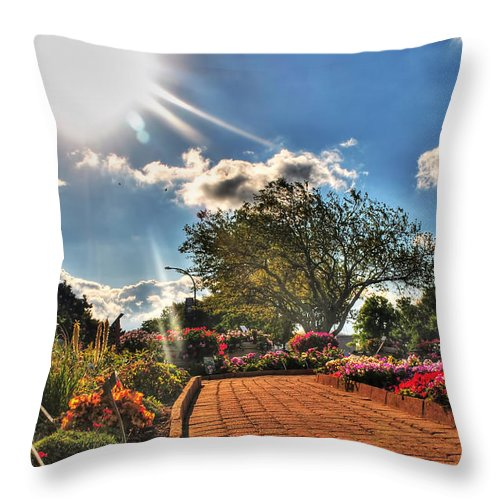Throw Pillow featuring the photograph 006 Summer Sunrise Series by Michael Frank Jr